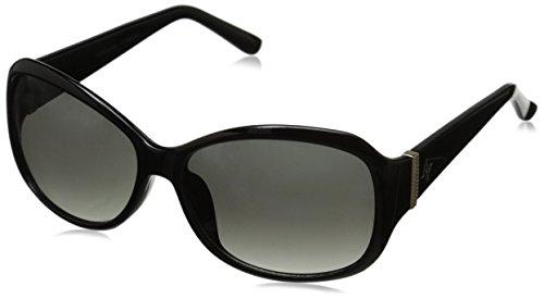 Adrienne Vittadini Women's AV1025 Square Sunglasses, Black, 56 - Adrienne Sunglasses Vittadini