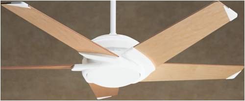 Casablanca fan 3272 53 stealth ceiling fan in architectural white casablanca fan 3272 53quot stealth ceiling fan in architectural white with maple blades aloadofball Images