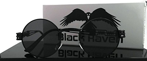 Black Raven 2018 Sunglasses Steampunk Vintage Retro Mirrored Reflective Metal 5