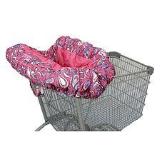Deluxe Floppy Seat Shopping Catr Cover-Shell's Swirl