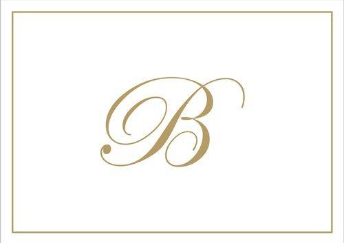 Caspari 83632.B Box mit Notizzettel mit Prägung des Initialen B-Gold