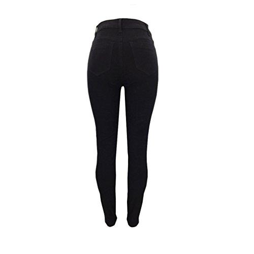Matita Ricamo Stile 2 Skinny Eleganti Strappati Sentao Donne Jeans Fiore Vita Pantaloni Alta Del Denim H67OU6