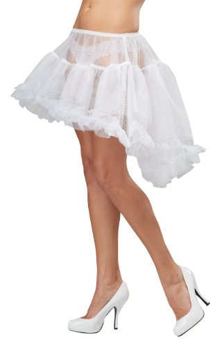 California Costumes Women's Eye Candy - Hi - Lo Pettiskirt Adult, White, (White Pettiskirt)