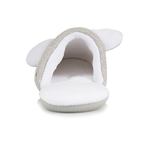 Mules 3D Animal Chaussons Femme Gris Beige nWTzw4AqH