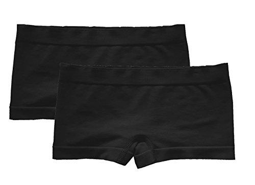 Popular Girls' Seamless Boyshorts - 2 pack Black - (Black Boy Shorts)