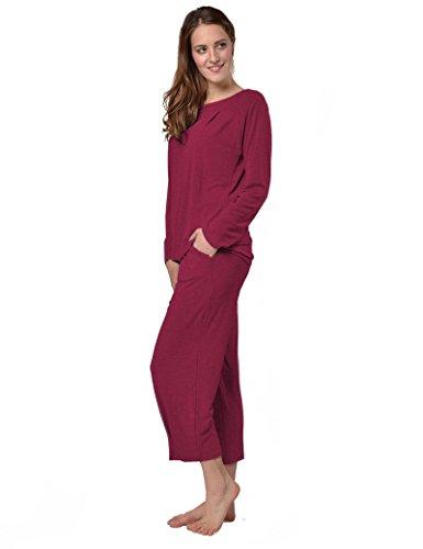 Viscosa da casa Jersey ¾ Raikou con pantaloni pigiama Rosso TUTA Vivo rn6rxgFIq