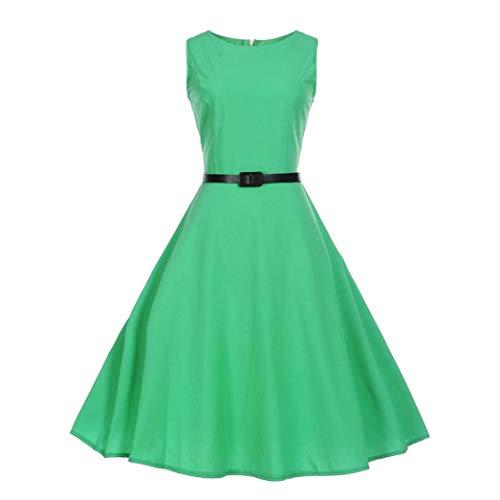 HYIRI O Neck Evening Party Prom Swing Dress,Fashion Women Vintage Sleeveless