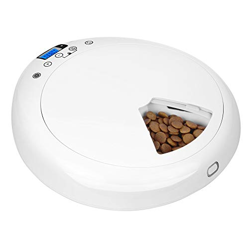 YGTech Automatic Pet Feeder with Voice Recorder, Dogs and Cats Food Dispenser with Portion Control Timer Programmable…