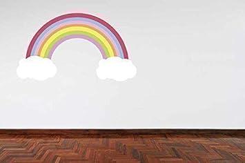 Colori Cameretta Bebè : A pieni colori colore pastello arcobaleno e nuvole camera da letto