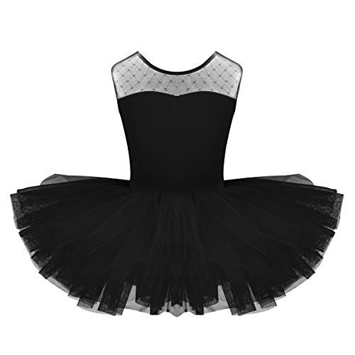 YiZYiF Baby Girl's Ballet Outfits Leotard Tutu Dancewear Party Dress (5-6(Shoulder to Crotch 19.5