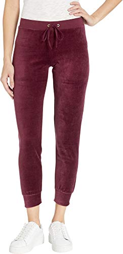 Juicy Couture Women's Velour Zuma Pants Plum Wine Medium 30.5