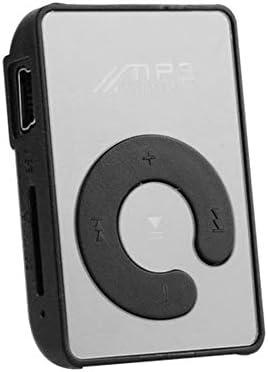 Cooshional Mini Reproductor MP3 Sport Espejo con Clip USB Micro SD TF 5 Colores