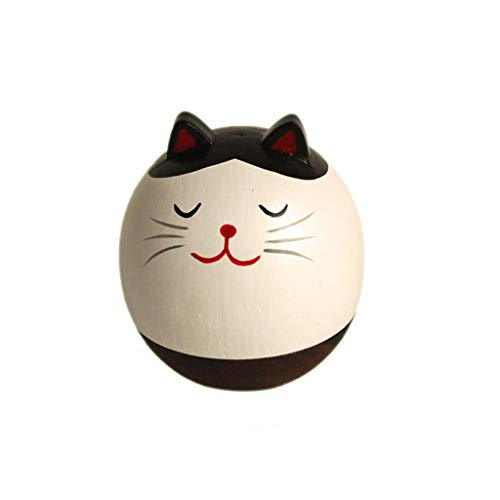 Fan-Ling Home Desk Decoration Daruma Gift Toy, New Creative Animal Wooden Crafts,Roly-Poly Children Toys,Cute Craft Decorative Ornaments for Home Table Decoration (B)