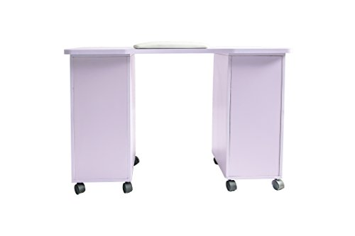 ExacMe Slightly purple Manicure Nail Table Station Desk Spa Beauty Salon Equipment 400/600 (600) by BarberPub (Image #5)