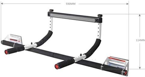 LSYOA プルアップバー、安全ロックキャッチ付き フィットネススティック 多機能 玄関の横棒 筋力トレーニング用 家庭用ジムのフィットネスとトレーニング,Black_590*198*114cm