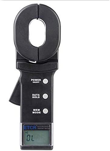 Yadianna ポータブルデータ保存機能警報システムと科学的なアース接地抵抗計テスター、デジタルクランプメーター、抵抗値範囲:0.01〜200ΩETCR2000A