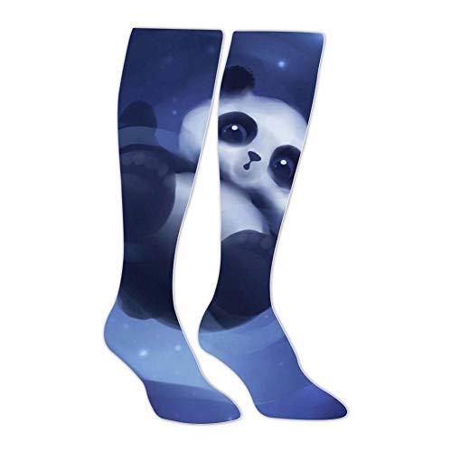 Knee High Stockings Wild Bear Panda Long Socks Sports Athletic for Man and ()