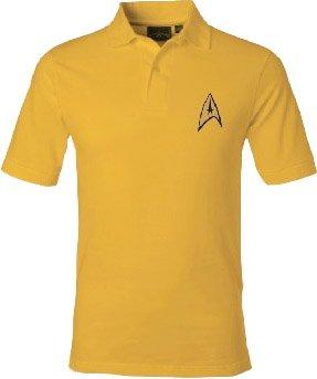 Star Trek Starfleet Uniform Adult Command Gold Polo Shirt (Adult Small)