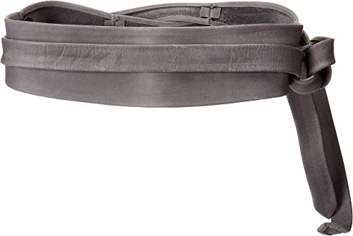 ADA Collection Women's Obi Classic Wrap Belt Onyx (Texas Leather) One Size (B Low The Belt Mia Wrap Belt)