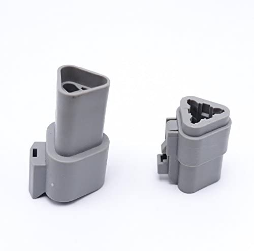New Brand 5sets Kits 3 Pin//Way Deutsch Sealed Waterproof Electrical Wire Car Connectors Plug DT06-3S DT04-3P