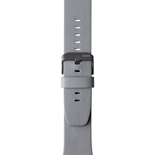 Belkin F8W731btC02 Classic Leather Band for Apple Watch Series 4, 3, 2, 1, /40 mm, Gray, 38 mm Pack