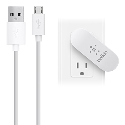 Belkin Dual Usb Charger - Belkin 2-Port Swivel Home Charger with 4-Foot Micro USB Cable (2.1 Amp)-Retail Packaging