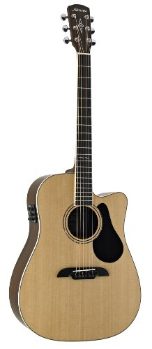 Acoustic Electric Guitar Natural Gloss - Alvarez Artist Series AD70CE Dreadnought Acoustic - Electric Guitar, Natural/Gloss Finish