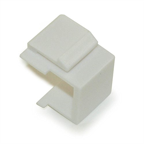 MyCableMart Wall plate: Keystone Jack - Blank Insert, White (White Blank Wall Plate Inserts)