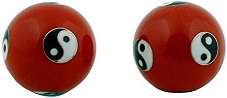Qi Gong Yin Yang - Bolas de Billar (4 cm), Color Rojo: Amazon.es ...