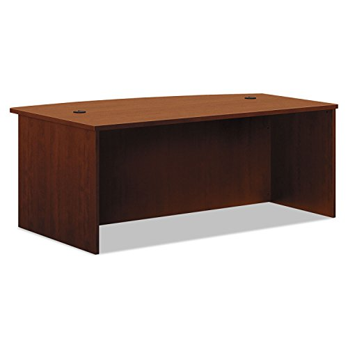 HON BL Laminate Series Office Desk Shell - Bow Front Top Desk Shell, 72w x 42d x 29h, Medium Cherry (P Top Desk)