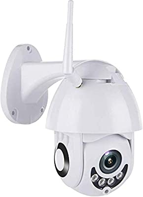 Outdoor PTZ WiFi Security Camera, 1080P Pan Tilt Waterproof Dome Camera Surveillance CCTV IP Camera, Two Way Audio Night Vision Motion Detection Camera, 4mm Lens H.264/5X