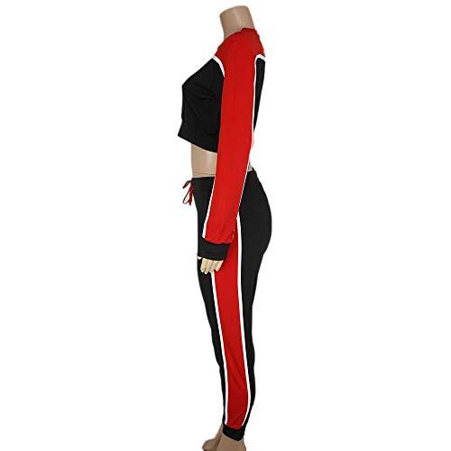 548808b3b241 Combinaison Costume Sport Survêtement Rouge Usure Décontracté Femmes 2pcs  Sweat Pantalon Loisirs De Youngii Salon Ensembles wqUfR1Cx