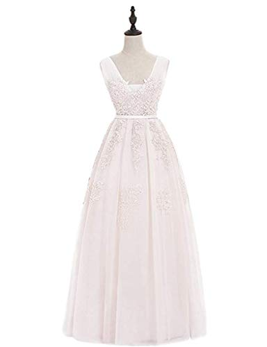 Coctel Dobles Las Pink color V Apliques Ivory Ailin Tamaño 12 Noche Largos Tul En De Con Dusty Vestidos Cuello Mujeres Home Exq0wqvT