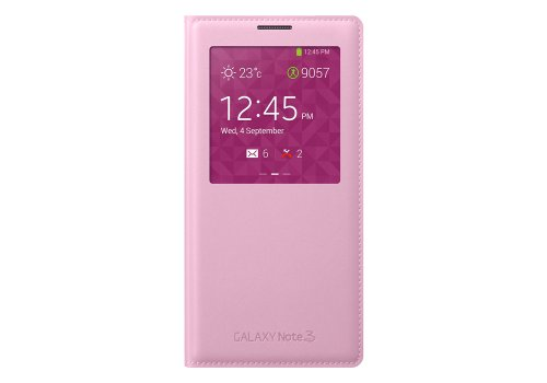 Click to buy Samsung Original EF-CN900BBEGWW S-View Smart Cover Slim Flip Case for Samsung Galaxy Note3 N9000 N9002 N9005(pink) - From only $39