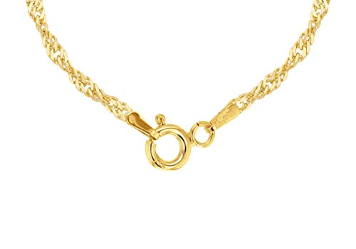 f11f0be2691bd Carissima Gold Women's 9 ct Gold 1.2 mm Diamond Cut Twist Curb Chain  Necklace