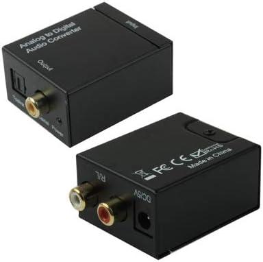 オーディオケーブル デジタル光同軸トスリンクオーディオコンバータへのアナログRCA(ブラック).