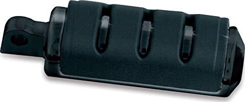 (Kuryakyn 7561 Motorcycle Footpegs: Premium Trident ISO Pegs with Male Mount Adapters, Large, Gloss Black, 1)