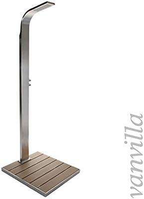 Vanvilla Lemoa - Ducha de piscina de acero inoxidable, ducha exterior, sin plato de ducha: Amazon.es: Jardín