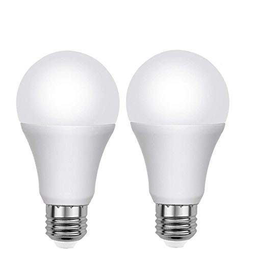 LED Sensor Light Bulb Dust to Dawn 2 Pack 7W E26/E27 Automactic On/Off RA80 Smart Lighting Lamp, Warm White 2700K Indoor/Outdoor Yard Porch Patio Garden Lights by UNPOPULAR For Sale