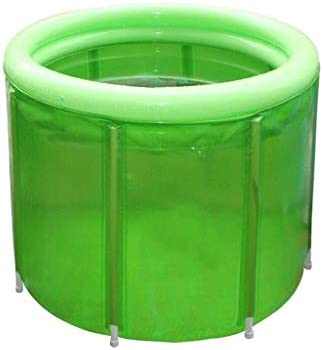 ZJHDX シャワーストール、柔軟な大人サイズ100 * 80センチメートル用バスタブを浸しグリーンポータブルバスタブ、