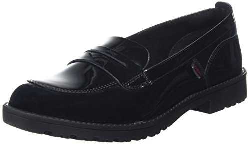 Kickers Girl's Lachly Loafer Senior Black Patent Shoes 40 M EU/6.5 M US Big Kid Black Patent by Kickers