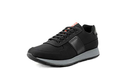 - Prada Men's Nylon Tech Trainer Sneaker, Nero (Black) 4E3341 (12 US / 11 UK)
