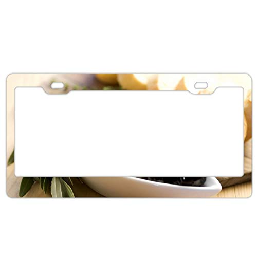 ck Green Bread Baguette Plate Table Leaf License Plate Holder Durable Car Tag 12
