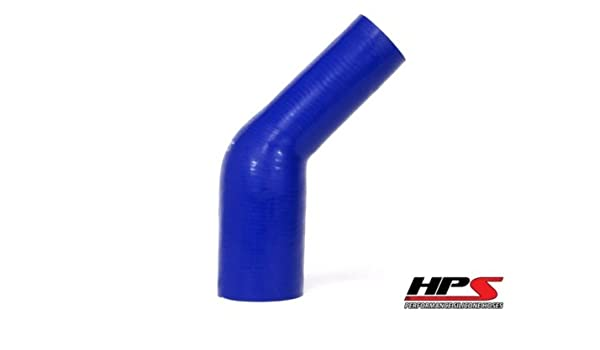 Blue 55 PSI Maximum Pressure HPS HTSER90-250-350-BLUE Silicone High Temperature 4-ply Reinforced 90 degree Elbow Reducer Coupler Hose 4 Leg Length on each side 2-1//2  3-1//2 ID