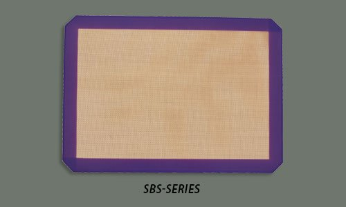 Winco SBS-24PP, 16-3/8'' x 24-1/2'' Full-Size Purple Silicone Baking Mat, Allergen Free Pastry Mat, Cookie Sheet Liner
