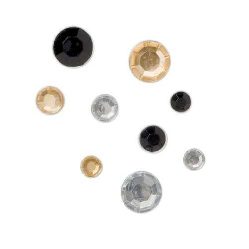 Karen Foster Design Sparkle Brads Rhinestone Embellishments, 24 Dazzle Colors