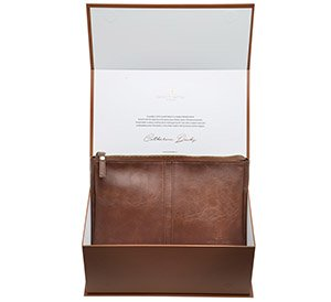 Leather Travel Toiletry Bag - Luxury Dopp Kit / Makeup Bag Men's or Women's. Presentation Gift Box (Toiletry Bag Leather)