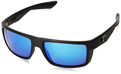 Costa Del Mar Motu Sunglasses, Blackout, Blue Mirror 580 Glass Lens