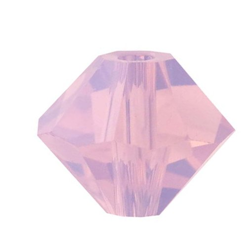 Bicone Bead Rose (Swarovski Crystal, #5328 Bicone Beads 3mm, 25 Pieces, Rose Water Opal)