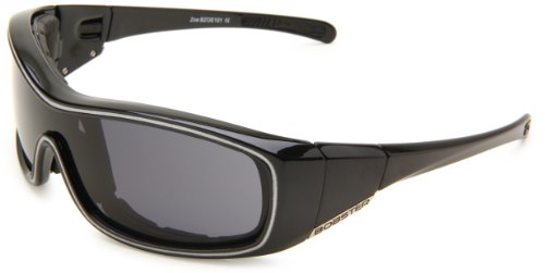 Bobster Zoe Convertible Oval Sunglasses,Black Frame/Smoked Anti Fog Lens,One Size ()